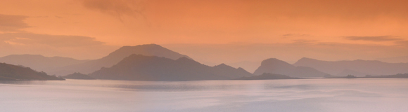 0013 - Misty Sunset at Lake Pedder, TAS