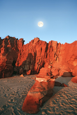 0118 - Moonrise, Cape Leveque, W.A.